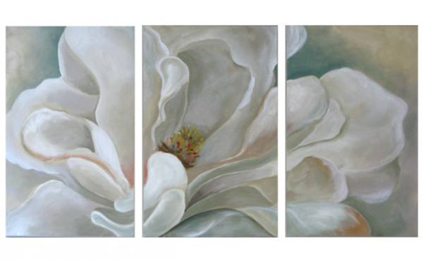 Three-Panel Magnolia Blossom