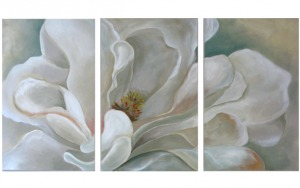 Three-Panel Magnolia Blossom
