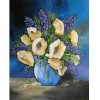 Yellow Florals in a Blue Vase