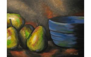 Pears & Blue Bowl